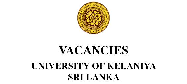 university of kelaniya vacancy