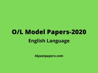 O/L 2020 English Model Paper
