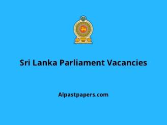 Sri lanka parliament vacancy