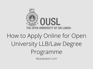 How to Apply Online for Open University LLB/Law Degree Programme