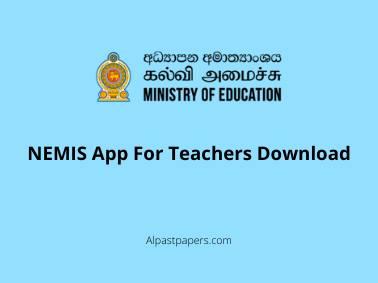 NEMIS App For Teachers Download