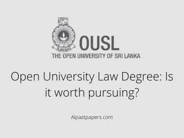 Open University Law Degree Is it worth pursuing