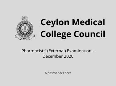 Pharmacists' (External) Examination – December 2020
