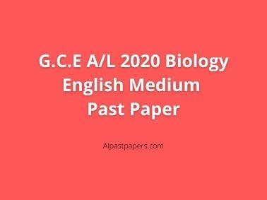 GCE-AL-2020-Biology-English-Medium-Past-Paper