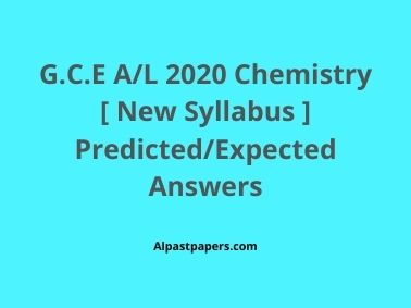 GCE-AL-Chemistry-2020-New-Syllabus-Predicted-Expected-MCQ-Answers