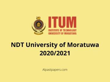 NDT University of Moratuwa 2020-2021