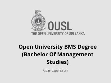 Open University BMS Degree (Bachelor Of Management Studies)