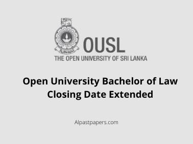 Open University Bachelor of Law Closing Date Extended