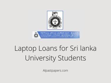 Laptop Loans for Sri lanka University Students