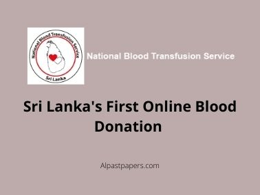 Sri Lanka's First Online Blood Donation