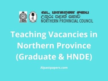 Teaching-Vacancies-in-Northern-Province-Graduate-and-HNDE