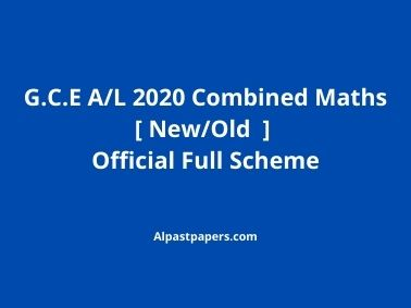 Combined Old/New Mathematics 2020 Marking Scheme