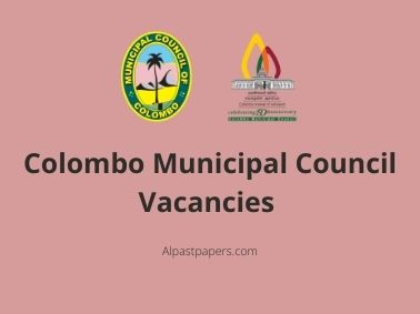Colombo Municipal Council Vacancies