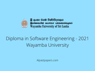 Diploma in Software Engineering - 2021 Wayamba University