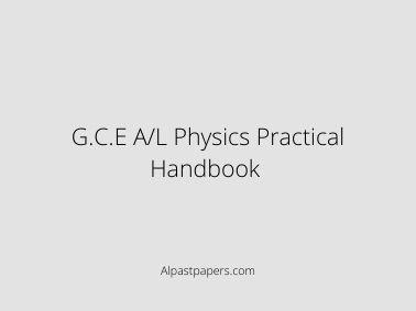 G.C.E A/L Physics Practical Handbook