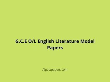 G.C.E-O_L-English-Literature-Model-Papers