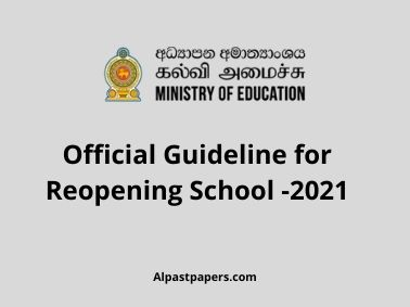 Official Guideline for Reopening School -2021