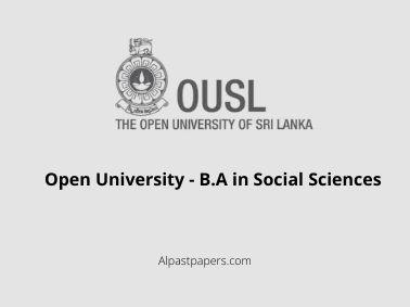 Open University - B.A in Social Sciences