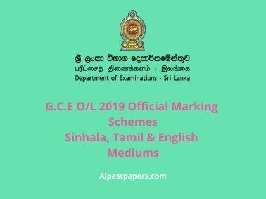 GCE-OL-2019-Official-Marking-Schemes-Sinhala-Tamil-English-Mediums