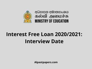Interest Free Loan 2020_2021_ Interview Date