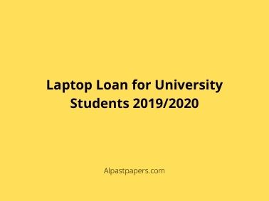 Laptop Loan for University Students 2019_2020