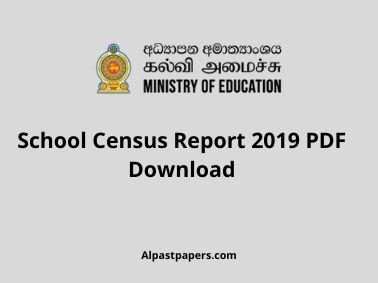 School Census Report 2019 PDF Download