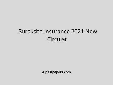 Suraksha Insurance 2021 New Circular
