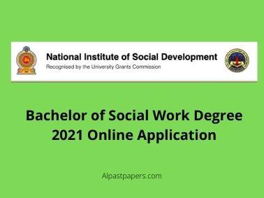 Bachelor of Social Work Degree 2021 Online Application