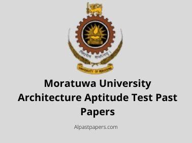 Moratuwa University Architecture Aptitude Test Past Papers