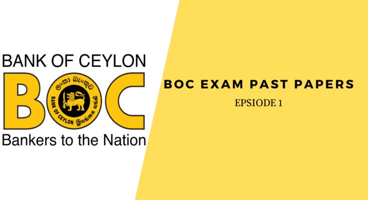 BOC EXAM Past Papers
