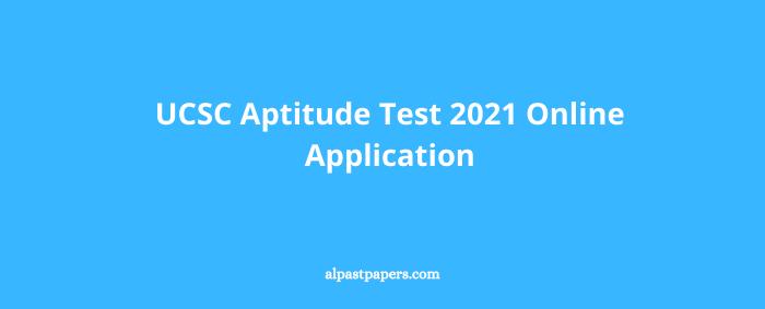 UCSC Aptitude Test 2021 Online Application
