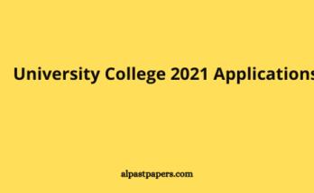 University College 2021 Applications