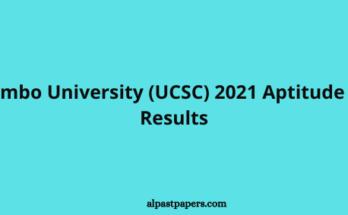 Colombo University (UCSC) 2021 Aptitude Test Results