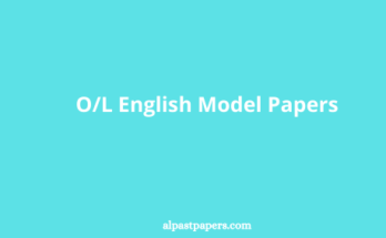 OL English Model Papers