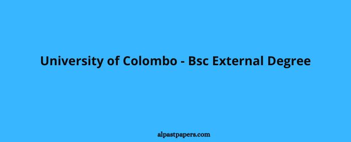 University of Colombo - Bsc External Degree