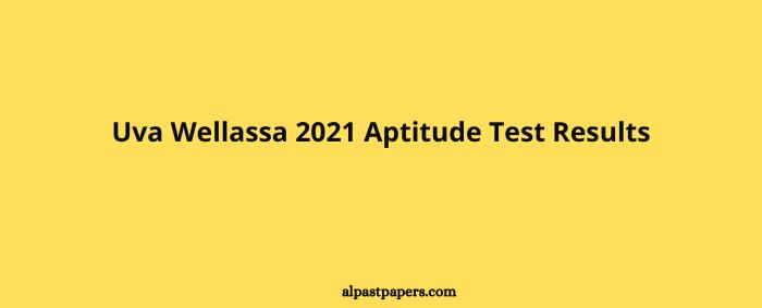 Uva Wellassa 2021 Aptitude Test Results